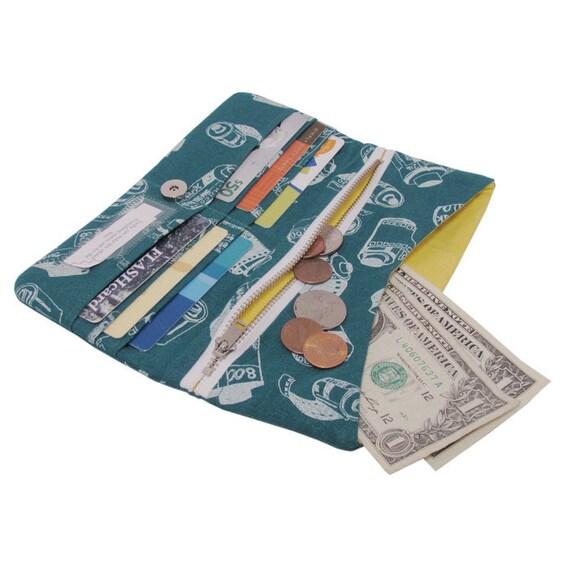 35mm film pleated zipper wallet