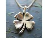 Lucky Four Leaf Clover Charm Necklace
