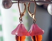 Fluted Tulip Drop Earrings