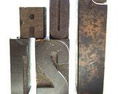 5 Vintage Wooden Letterpress Blocks R U 2 1