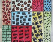 Dream Weaver Quilt ACEO Watercolour Picture Mixed Media OOAK