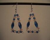 PIF - Blue & Peach Triangle Earrings - FREE FREE