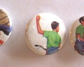 On hold for buyer  Vintage Bike Saftery 1 inch button set