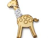 Flossy the Giraffe Embroidery Floss Bobbin