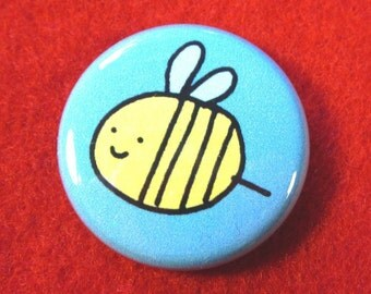 Bumbley Bee One Inch Button