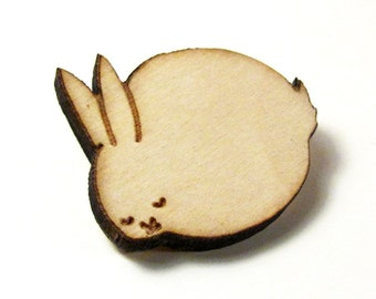 Sleeping Bunny Wood Pin