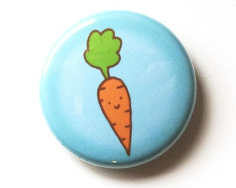 Cute Carrot One Inch Button