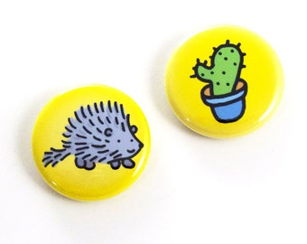 Prickly Pair Button Set