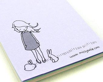Bunny Girl Mini Notepad