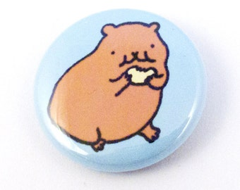 Hungry Hamster One Inch Button