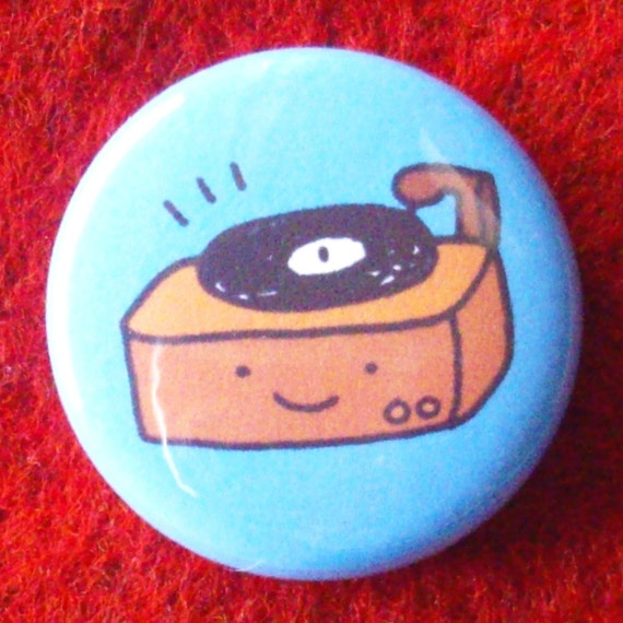 Little Record Player One Inch Button