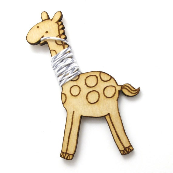 Flossy the Giraffe Embroidery Floss Bobbin