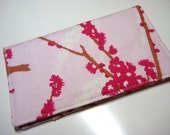 Branch and FlowersFabric Checkbook Cover