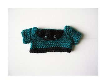 Navy and Teal Wool Sweater for Timmie Tadpole
