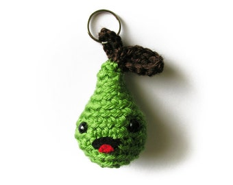 MADE TO ORDER: Happy Pear Keychain