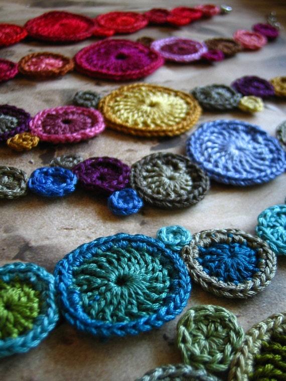 CUSTOM crochet bracelet by Even Howard, kaleidoscope colors-create a friendship bracelet set, bridesmaid's gifts...