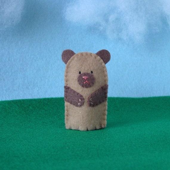 Little Brown Bear Finger Puppet