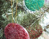 Custom listing for tronsgirl Glitter Ornament Sets