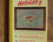 1\/2 off from already reduced price SALE Vintage  Book Heloise's Housekeepking Hints 1965
