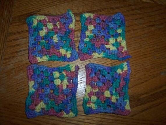 Granny Square Coasters