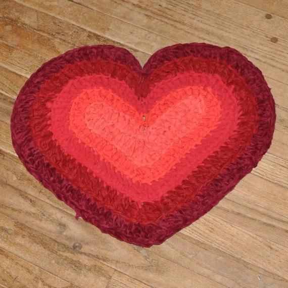 Heart Burst Crochet Rug By Ekra On Etsy