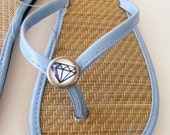 Diamond Flip Flop sizes 5, 6, 8, 9 Free shipping in the USA
