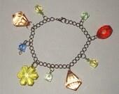 gem charm bracelet