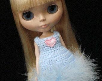 pdf pattern -Simple crochet dress for Blythe