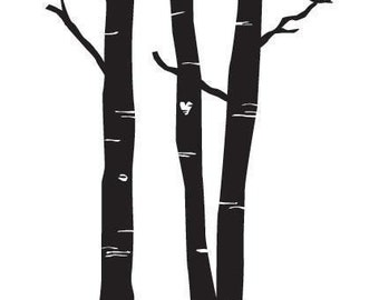 Forest Wall Decal size MEDIUM - Home Decor, Office Decal,