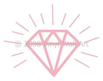 Diamond Vinyl Decal size SMALL, Child Decor, Childrens Bedroom Design, Little Girl Decor, Nursery Decal