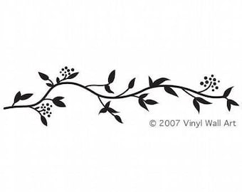 Vinyl Wall Decal Leafy Border LARGE