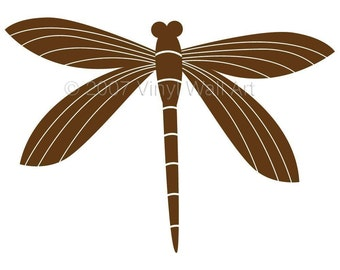 Dragonfly Vinyl Decal size LARGE, Home Decor, Office Design, Window Decal, Children's Decor, Nursery Design,