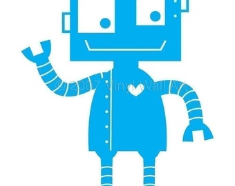 Robot Vinyl Wall Decal X-LARGE