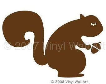 Vinyl Squirrel Wall Decal SMALL
