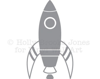 Space Ship Vinyl Decal LARGE