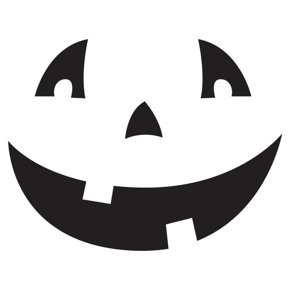 Pumpkin Face Decal Sticker Small