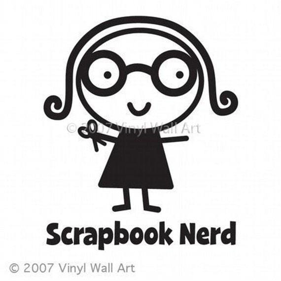 Scrapbook Nerd Vinyl Car Decal - Car Sticker, Laptop Sticker, Window Decal, Personalized Decal,