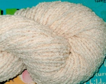 WORSTED Cotton Rayon Boucle Undyed Yarn, Natural Ecru Worsted Weight Cotton Rayon Boucle Yarn, Undyed Facecloth Yarn