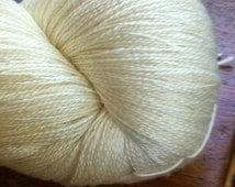 LACE SW Merino Silk Undyed Yarn,Gossamer Lace Undyed Yarn Blank, Undyed Lace Yarn, Merino Mulberry Silk Yarn