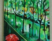 Red and Green Katie Knutson Original Art
