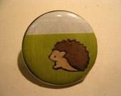 Handmade Hedgehog Button