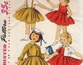 Vint. Little Girls Jumper, skirt, dress, jacket sz 2  1955 pattern