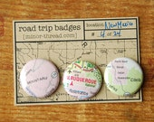 Road Trip Badges - New Mexico, No. 04  FREE SHIPPING by Minor Thread