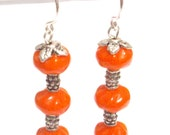 MISS LONELYHEARTS GOES ON A DATE - Vintage Glass and Bali Silver Dangle Earrings