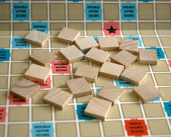 20 Blank Wooden Scrabble Tiles