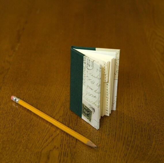 Mini Address Book, Vintage Post