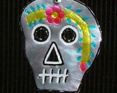 Day of the Dead Tin Skull Ornament