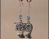 French Horn Charm Earrings