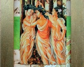 The Three Graces - OOAK framed art collage