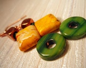 Acid Dipped Apple Jacks - Earrings by Lazy Lima Bean